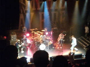 A photo of FACT supporting Memphis May Fire at London's KOKO